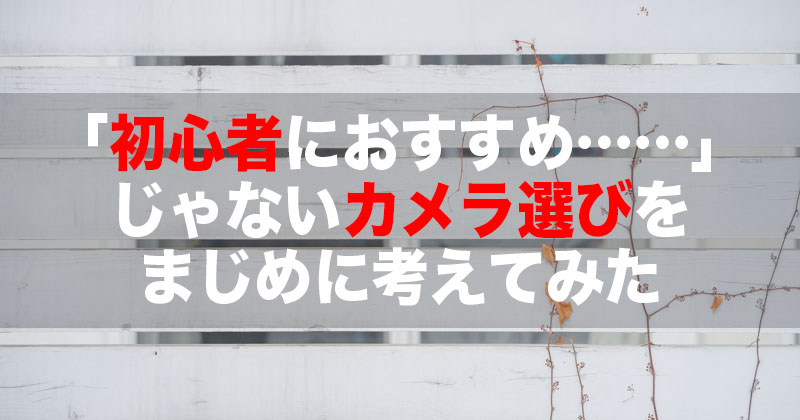 初心者向けカメラ選び記事のアイキャッチ画像