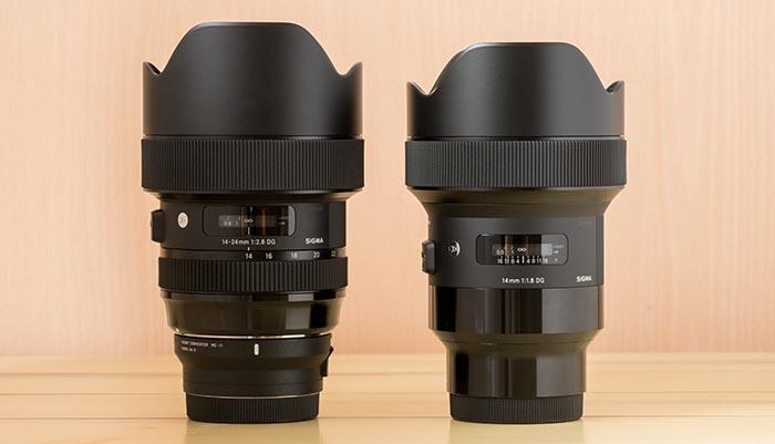14mm F1.8 DG HSM Artと14-24mm F2.8 DG HSM Art