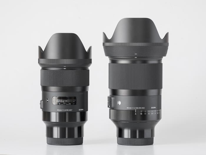35mm F1.2 DG DN Artと35mm F1.4 DG HSM Art