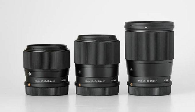16mm F1.4 DC DN Contemporary、30mm F1.4 DC DN Contemporary、56mm F1.4 DC DN Contemporary